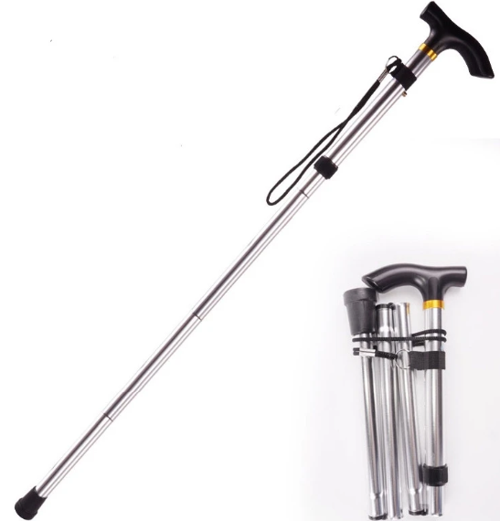 Mobility Aid for Elderly Foldable Cane Stick (White)
