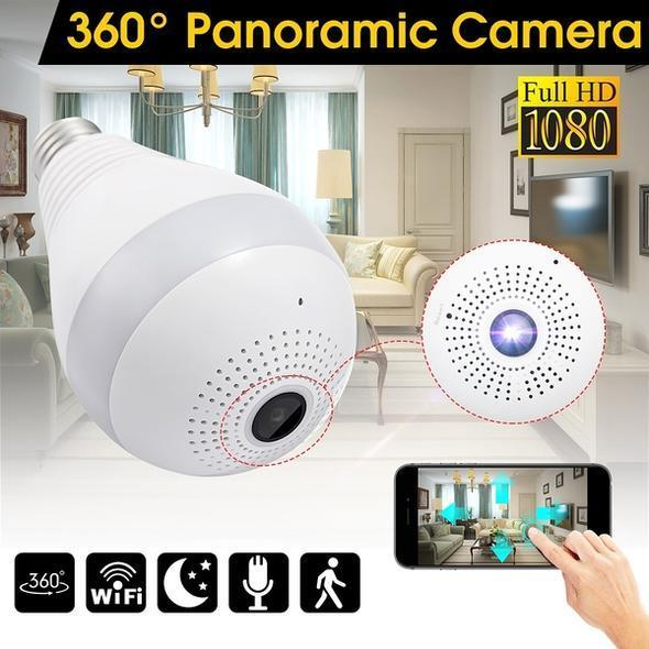 360 Degree Panoramic 1080P Full HD Bulb Camera