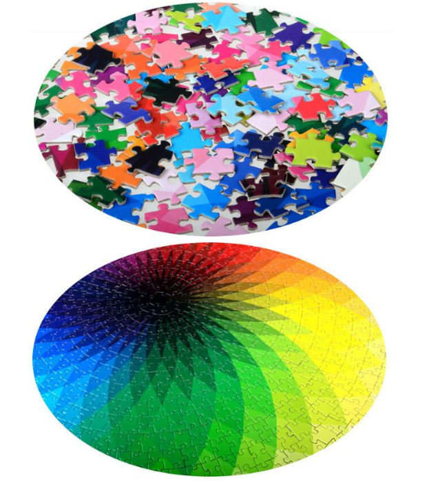 【2020 LATEST HOT SALE】Moruska® 1000 Piece Puzzles - Round Jigsaw Puzzles Rainbow Palette Intellectual Game
