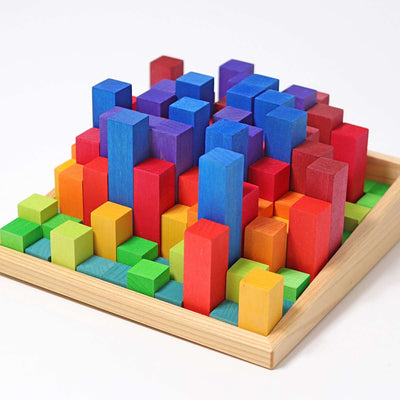 Grimm's Stepped Counting Blocks 2cm, 100 pieces