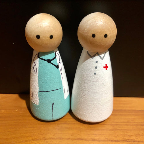 My Big World Playscapes Doctor & Nurse Peg Dolls