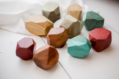 Qtoys Colored Wooden Gems