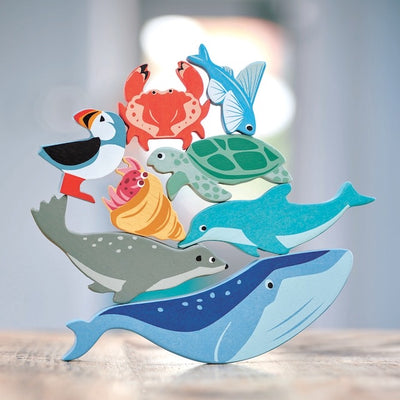 Tender Leaf Toys 10 Coastal Animals & Shelf