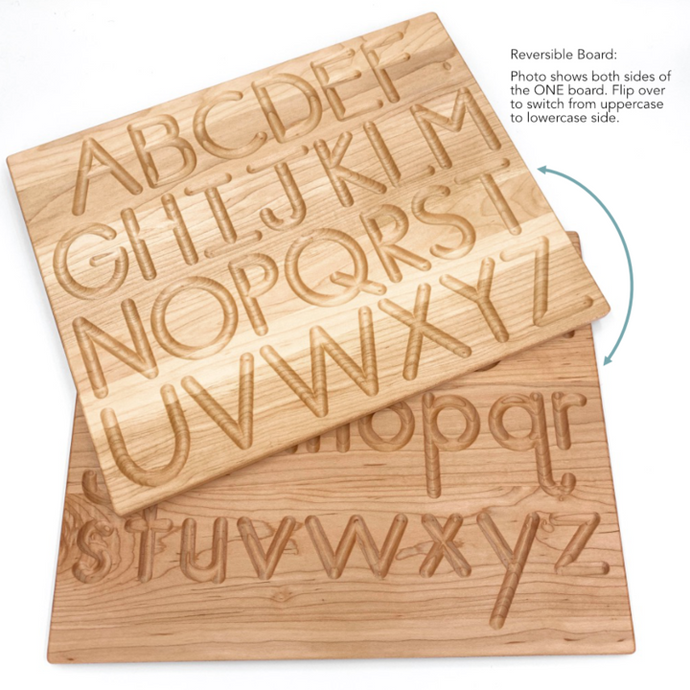 Printed Reversible Alphabet Tracing Board