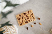 Load image into Gallery viewer, Qtoys Natural Capital Letter Puzzle