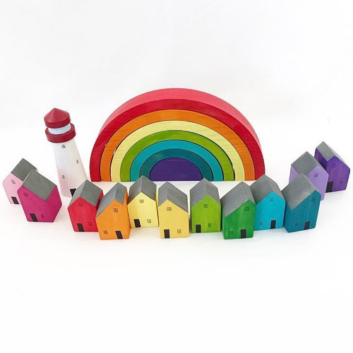 My Big World Playscapes 12 Rainbow Houses