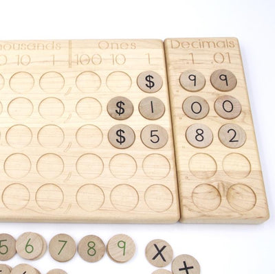 From Jennifer Place Value & Decimal Board