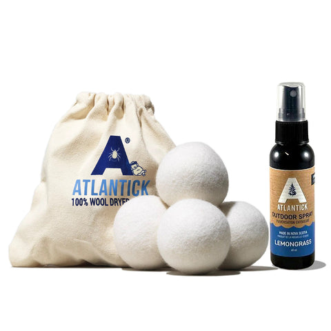 100% Wool Dryer Balls and 60ml Essential Oil Outdoor Spray