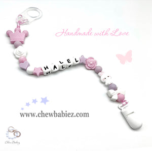 My Princess Crown Pacifier Clip