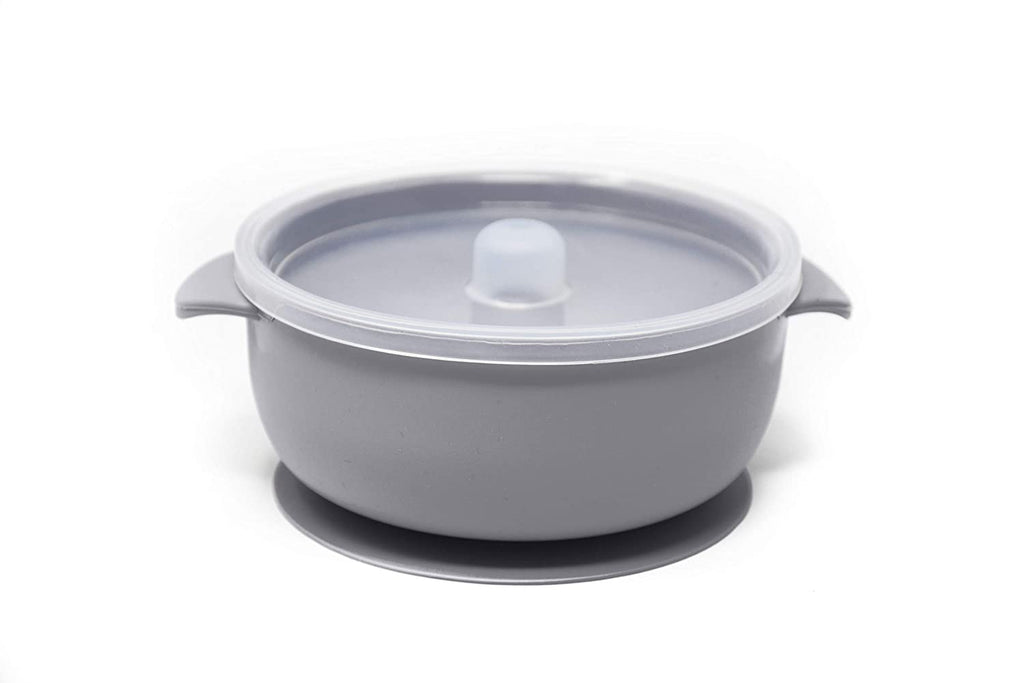 Light Grey Silicone Bowl With Lid