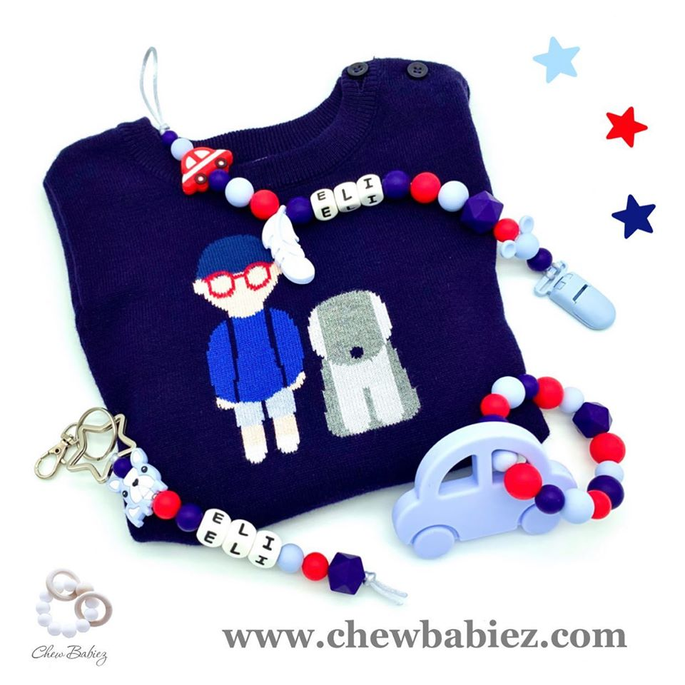 Paci Clip Teether Keyring