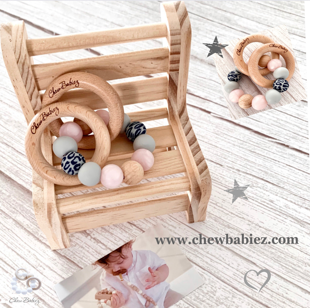 Shaya Teething Rattle