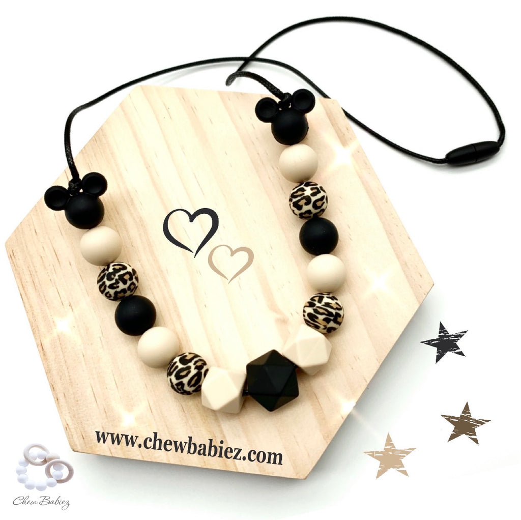 My Blacky Beige Teething Necklace