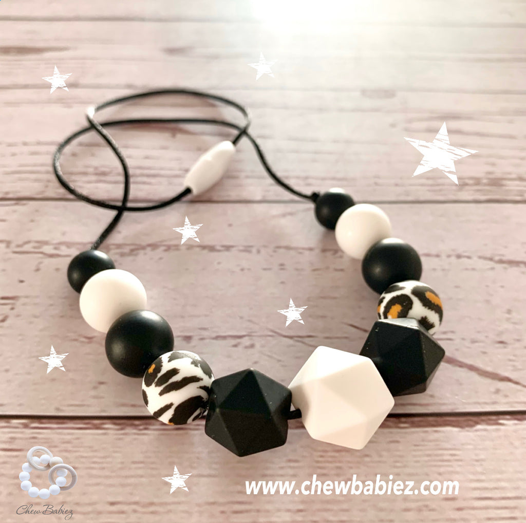 My B & W Teething Necklace
