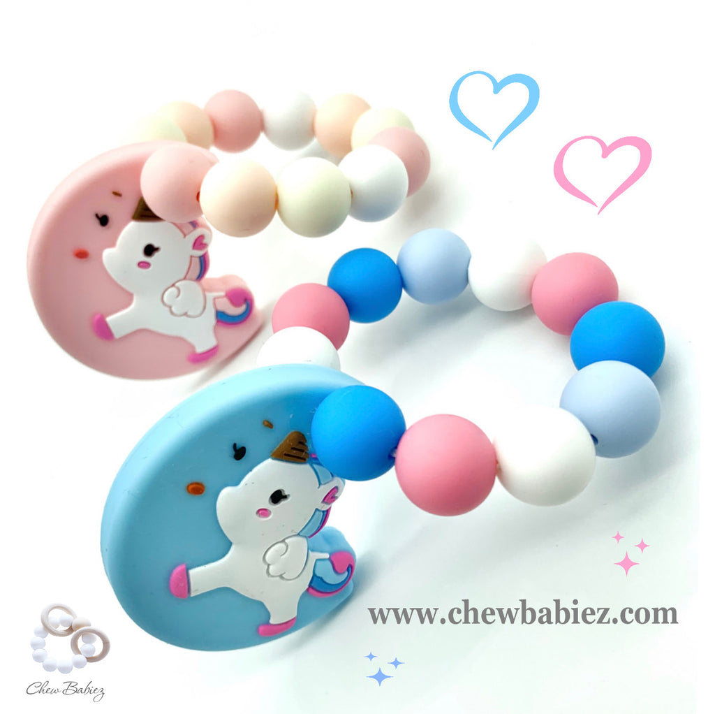 Unicorn in the Moon Teething Ring