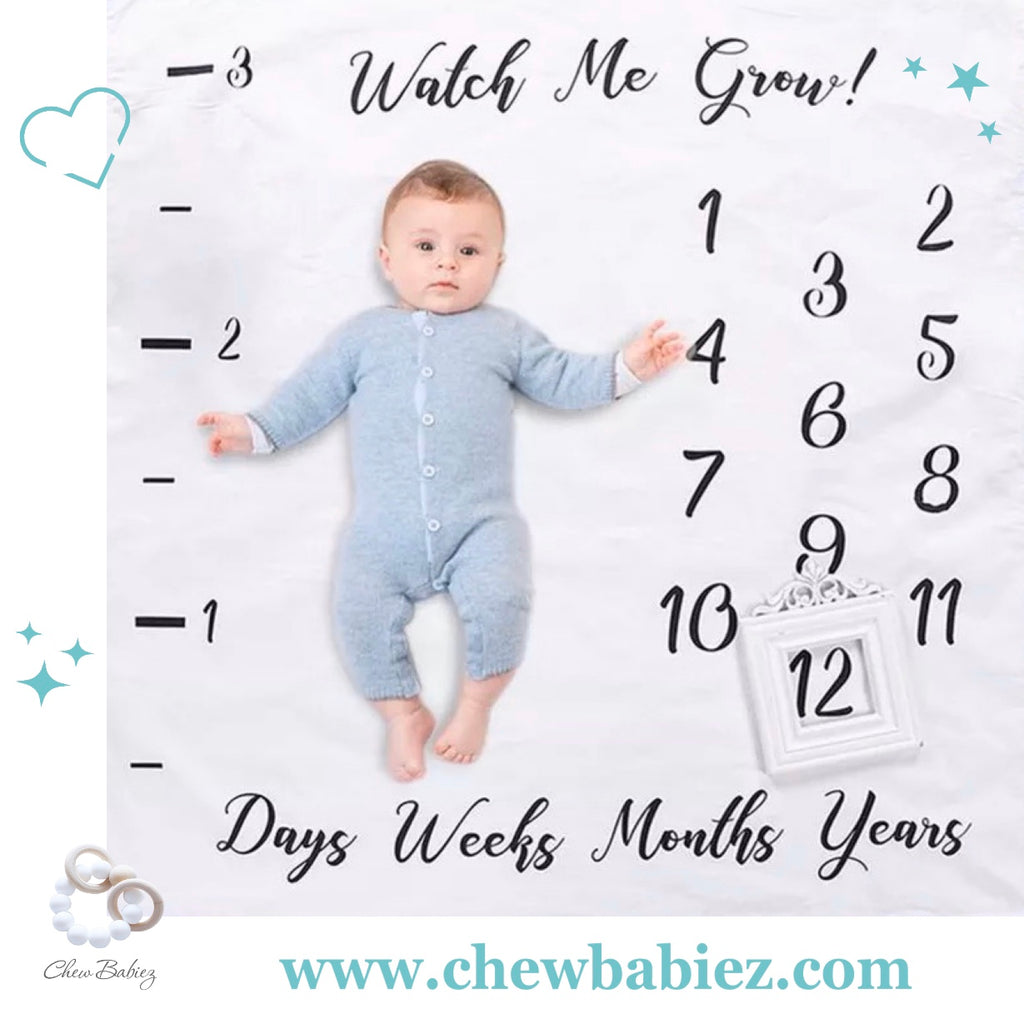 Watch Me Grow Baby Milestone Blanket