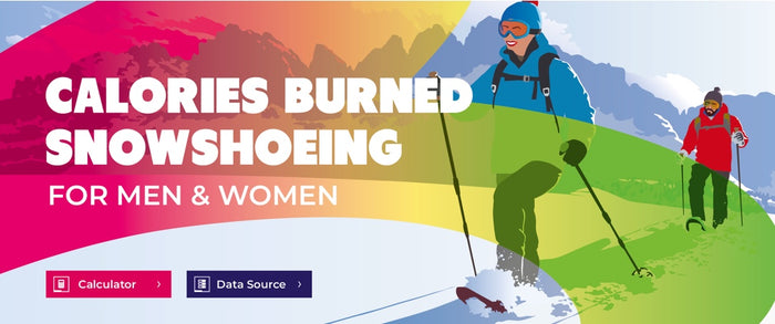 [INFOGRAPHIC] Calories Burned Snowshoeing for Men & Women