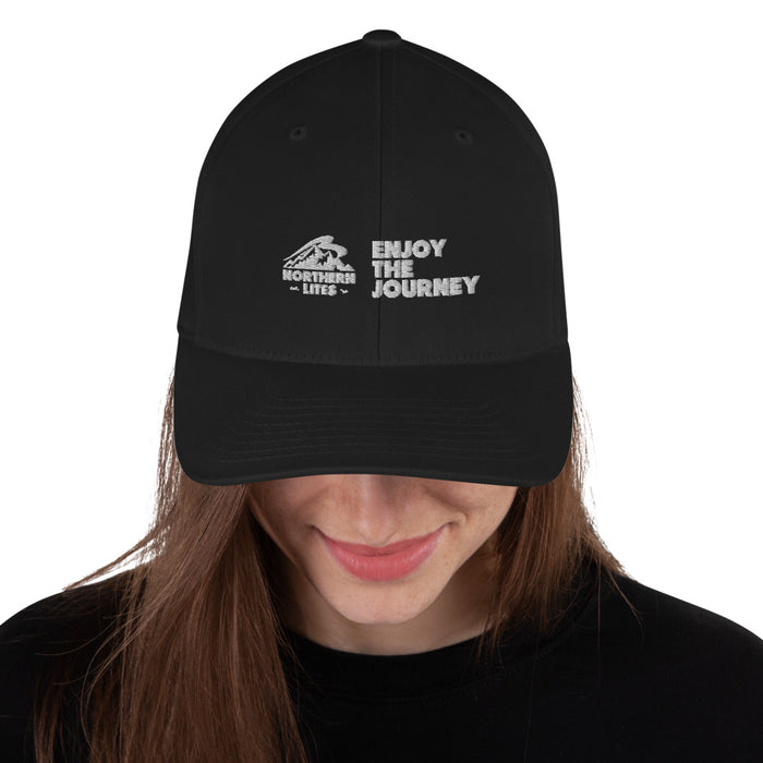 Enjoy The Journey Black Sport Cap
