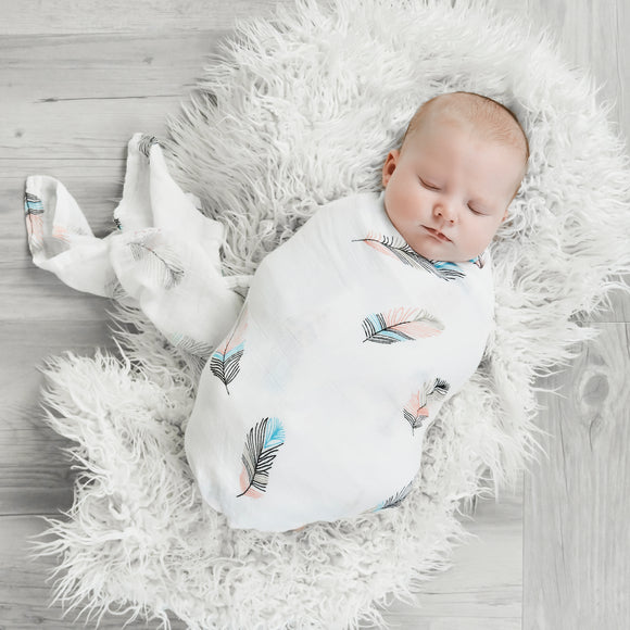 Bamboo Muslin Swaddle- Tommy & Ben