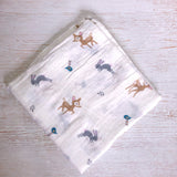 Organic cotton Swaddle- Bambi Tommy & Ben