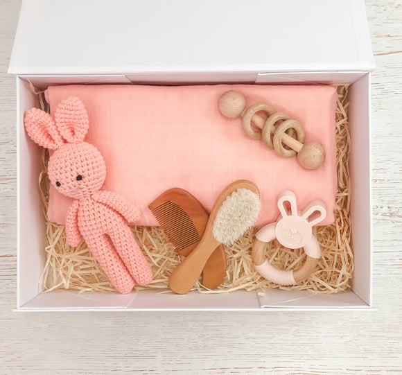 Peach baby gift box- Tommy & Ben