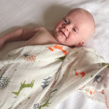 Bamboo Muslin Swaddle- Winterland- Tommy & Ben