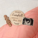 Pregnancy Announcement Plaque- Tommy & Ben