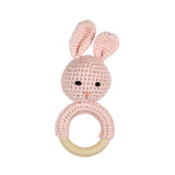 pink crochet rattle - Tommy & Ben