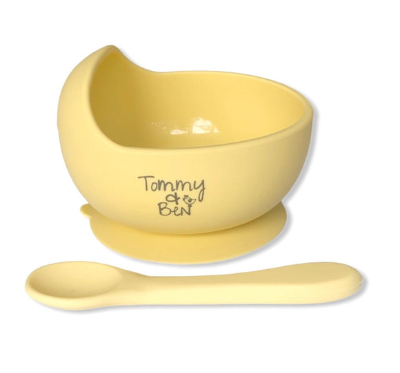 Silicone Suction Bowl and Spoon Set- Tommy & Ben