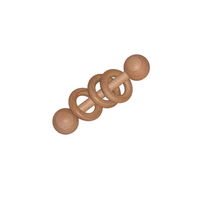 Keepsake Wooden Rattle - Tommy & Ben