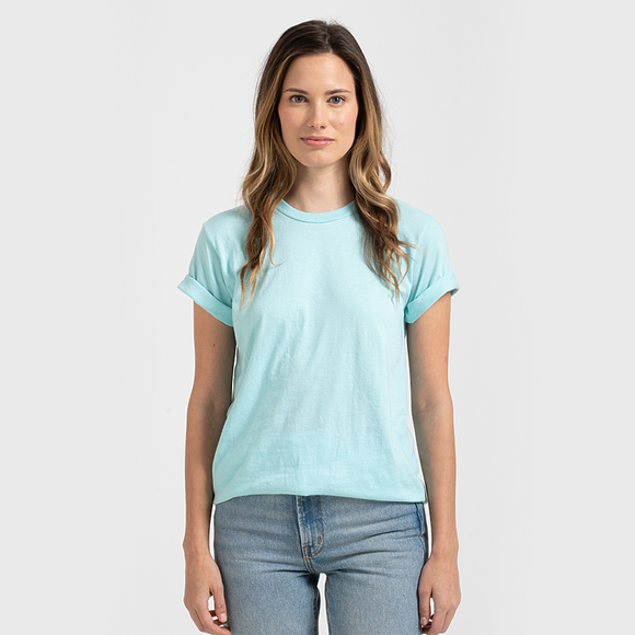 Tultex Unisex Jersey Tee-Heather Purist Blue ***NEW***