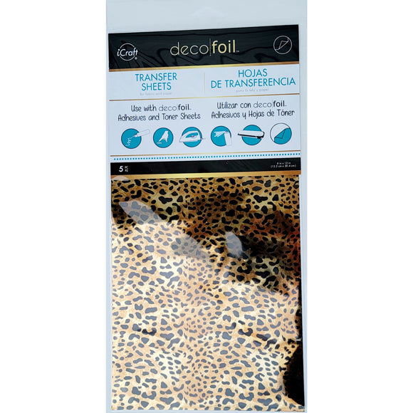 iCraft Deco Foil 5 Sheets - Leopard *EXCLUSIVE*