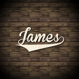 Custom Cut Wooden Name Sign - Sports Font 1