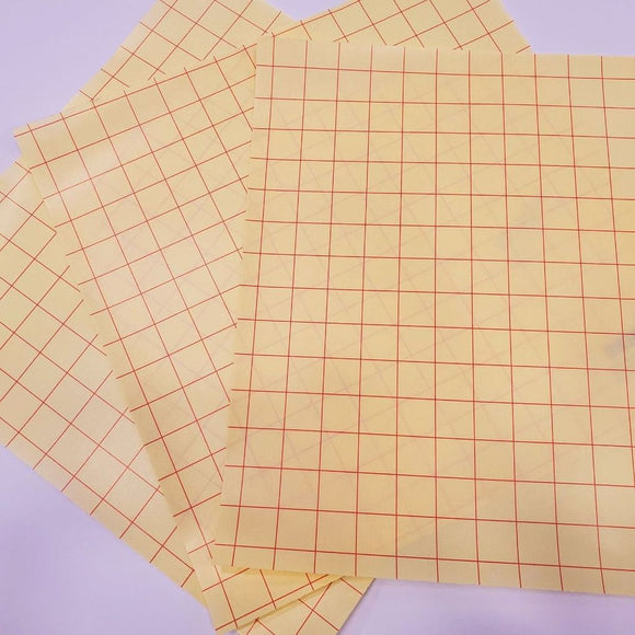 CSDS Vinyl Transfer Tape with Grid Liner 12x12 sheet