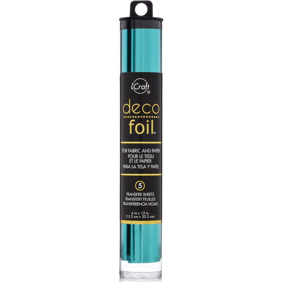 iCraft Deco Foil 5 Sheet Tube - Aqua