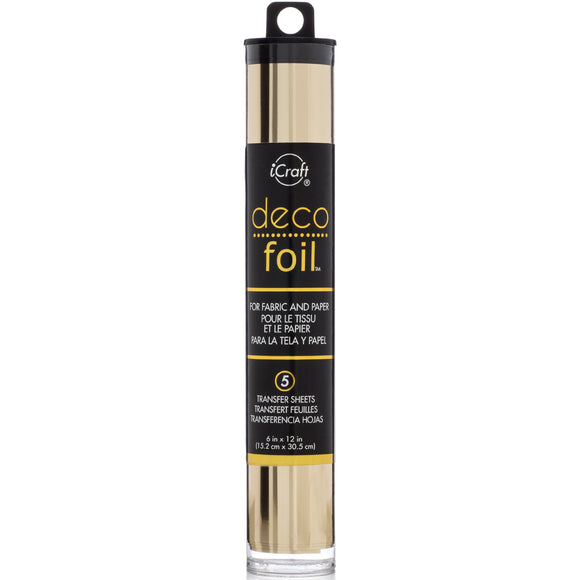 iCraft Deco Foil 5 Sheet Tube - Champagne