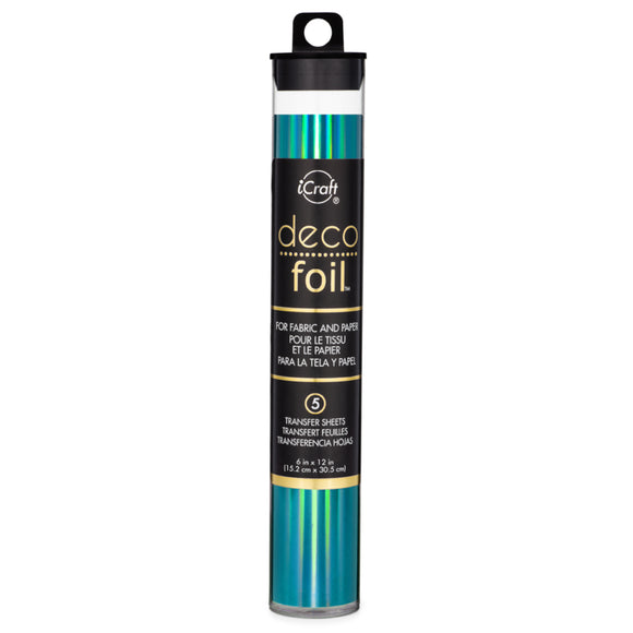 iCraft Deco Foil 5 Sheet Tube - Glass Slipper