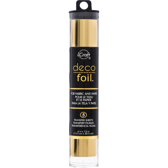 iCraft Deco Foil 5 Sheet Tube - Gold