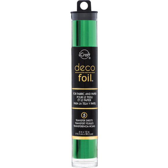 iCraft Deco Foil 5 Sheet Tube - Green