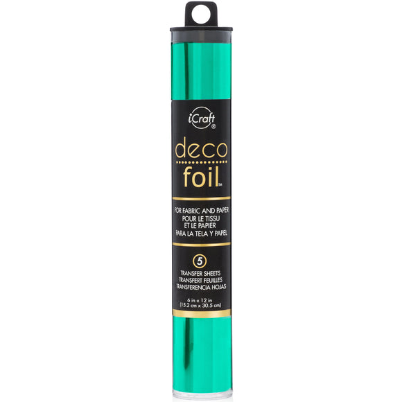 iCraft Deco Foil 5 Sheet Tube - Jade