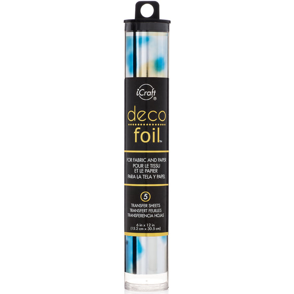 iCraft Deco Foil 5 Sheet Tube - Lapis Watercolor