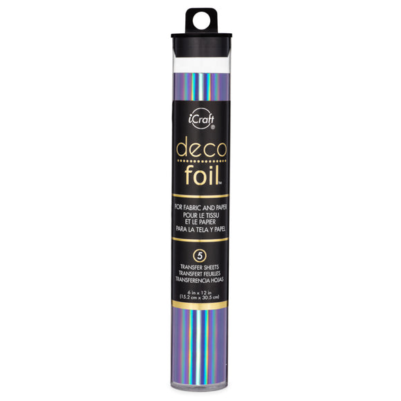 iCraft Deco Foil 5 Sheet Tube - Prince Periwinkle
