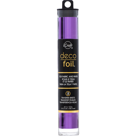 iCraft Deco Foil 5 Sheet Tube - Purple