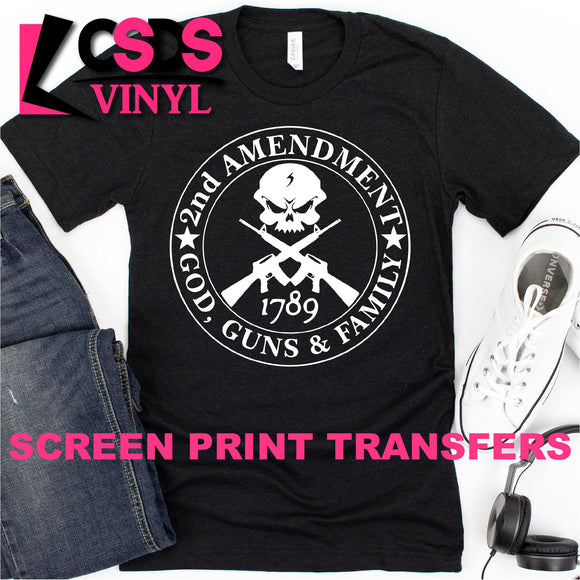 Screen Print Transfer - 2nd Amendment - White