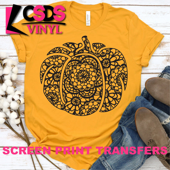 ***PRE ORDER*** Screen Print Transfer -  Lace Pumpkin - Black
