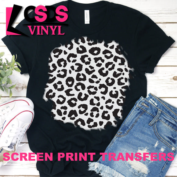 Screen Print Transfer - 12x12 Leopard Print Sheet - Black
