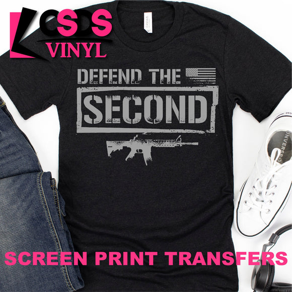 Screen Print Transfer - Defend the Second - Grey