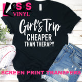Screen Print Transfer - Girls Trip - White