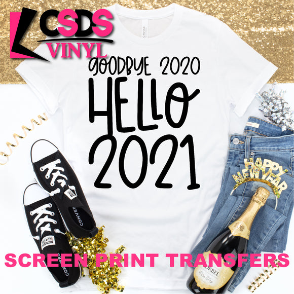 Screen Print Transfer - Goodbye 2020 - Black