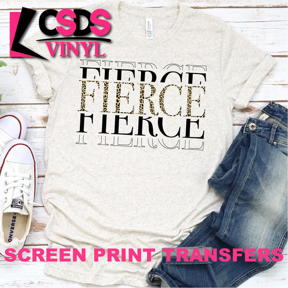 Screen Print Transfer - Leopard Fierce - Full Color